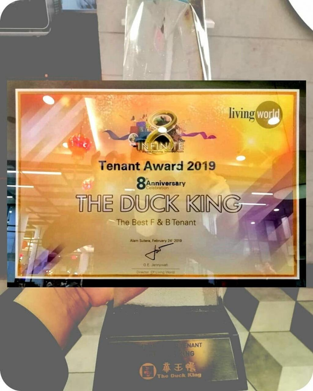 The Best Tenant Award from Living World Alam Sutera