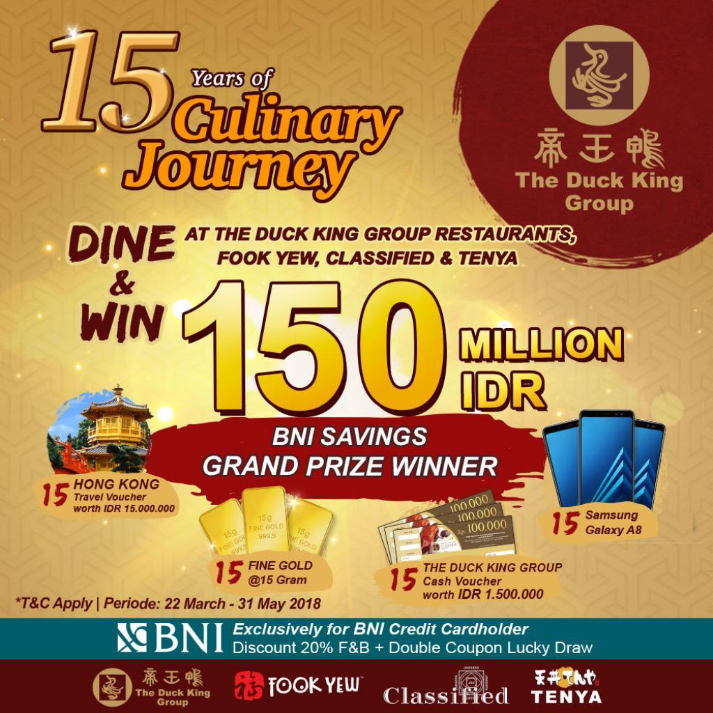 15 YEARS OF THE DUCK KING GROUP CULINARY JOURNEY: LUCKY DRAW, DINE, AND GET LUCKY