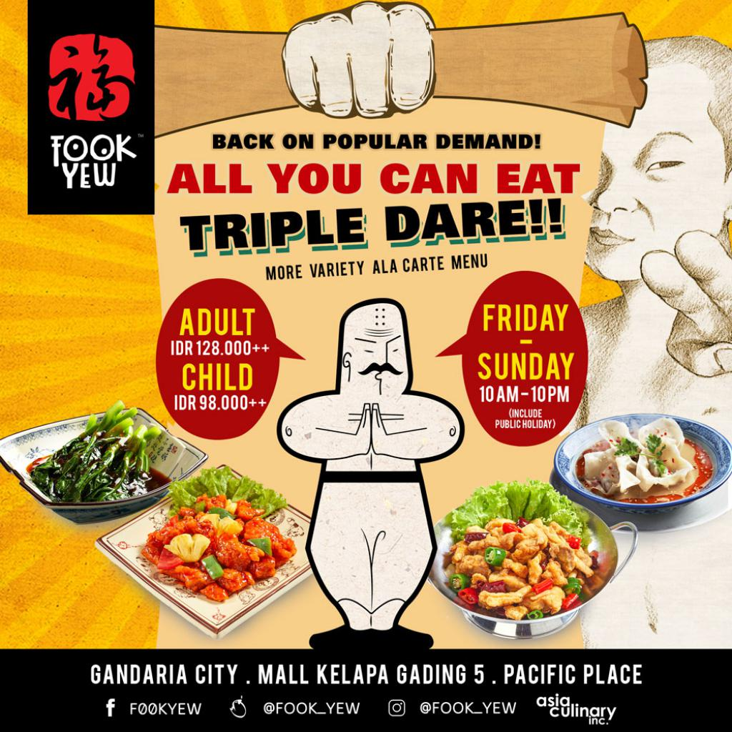 FOOK YEW TRIPLE DARE YOU TO EAT-ALL-YOU-CAN ALA CARTE