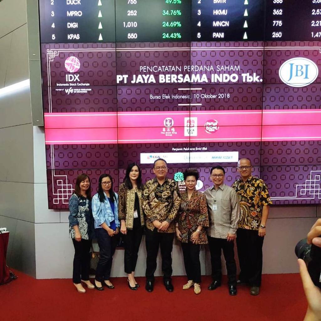 PT. Jaya Bersama Indo, Tbk., Resmi Melantai di Bursa